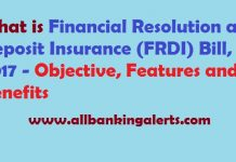 What is FRDI Bill 2017 - Objectives, features, benefits