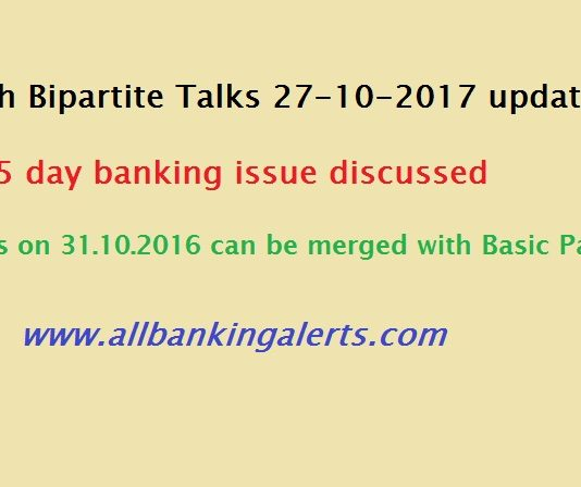 11th Bipartitie Settlement Update -- 5 day banking issue discussed