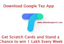 Download Google Tez app scratch cards to win 1 lakh every week on lucky draw