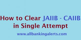 How to clear JAIIB CAIIB in single attempt