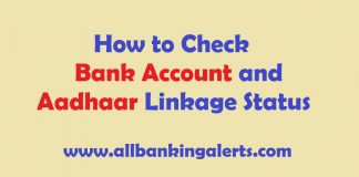 Check Bank Account and Aadhaar Number Linkage Status Online