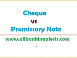 Cheque vs Promissory Note