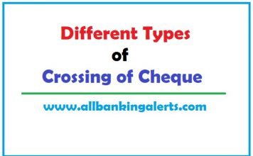 Effect of different types of crossing on cheques