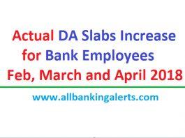Actual DA Slabs increase Feb march April 2018