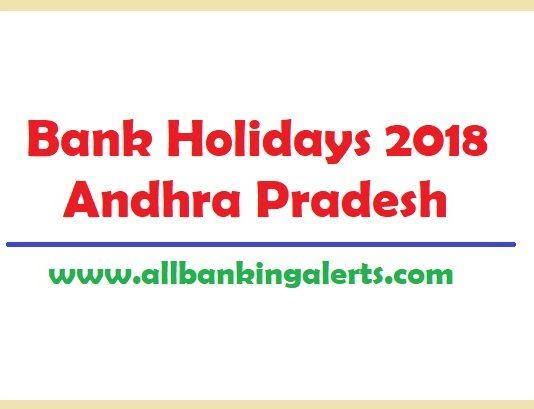 Bank Holidays 2018 Andhra Pradesh under NI act List