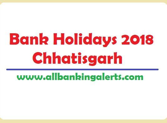 Bank Holidays 2018 Chhatisgarh List