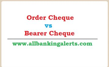 Difference between Order Cheque and Bearer Cheque