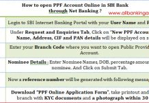 How to open PPF account online through SBI Net Banking