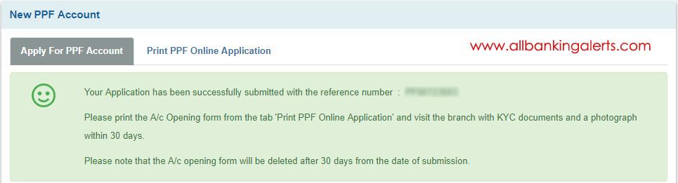 Open PPF account online SBI net banking