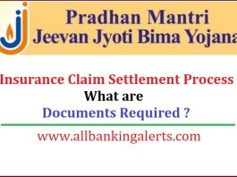 PMJJBY Insurance Claim Settlement Process and Documents