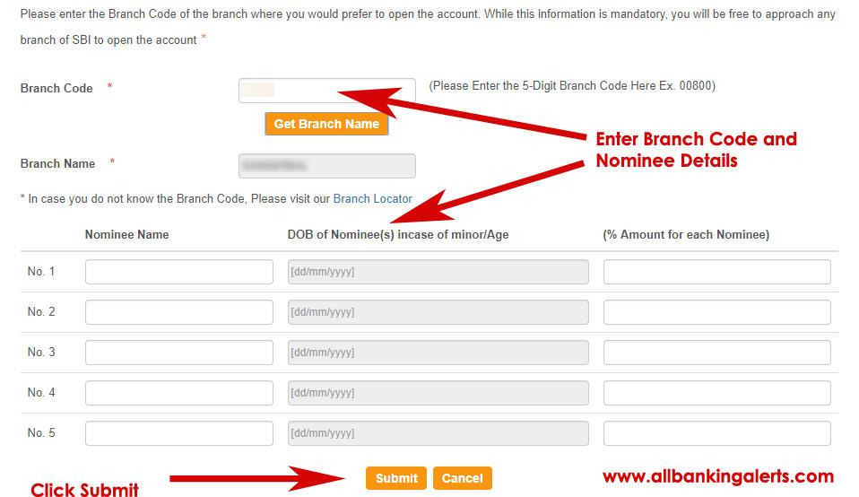 PPF Account Nominee Details Online SBI