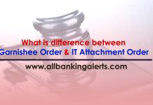 difference between Garnishee Order and IT Attachment Order