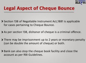 Legal Aspect of Cheque Bounce Punishment Penalty