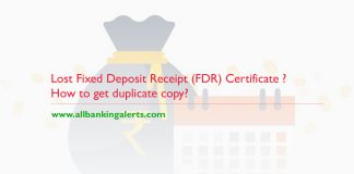 How to get duplicate copy of lost fixed deposit receipt certificate