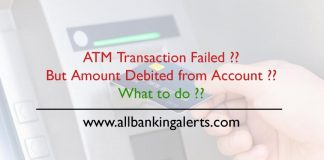 what to do if ATM Transaction fail but account debited with amount