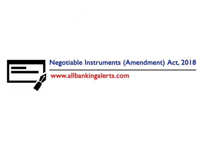 Negotiable Instruments Amendment Act 2018