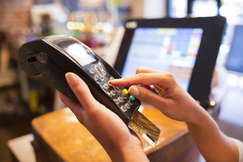 Avoid credit card skimming at restaurants gas stations