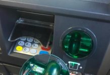 What a card skimmer looks like in ATMs