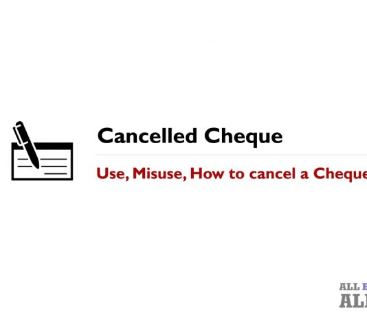 Cancelled Cheque Definition Use Misuse