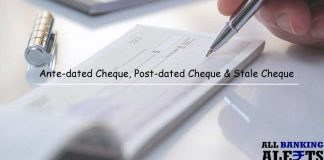 Ante dated post dated and stale cheque differences
