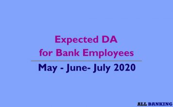 Expected DA slabs for May June July 2020