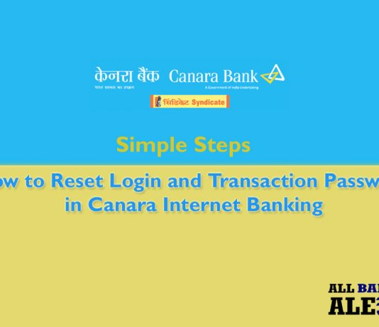 How to reset login and transaction password in canara net banking in simple steps