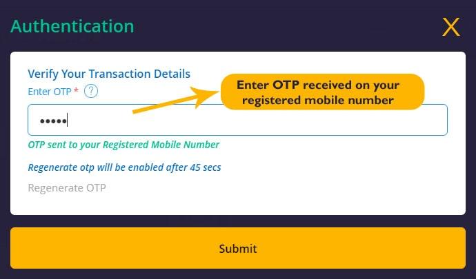 OTP - Verify Your Transaction Details