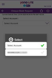 Select Account Number
