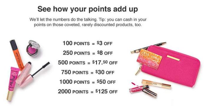 Ulta Rewards Card - How Reward Points add up