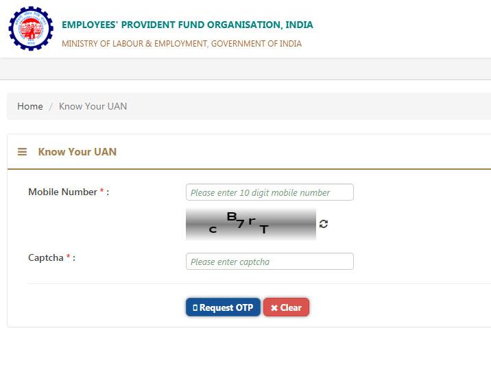 Find Universal Account Number (UAN) Online