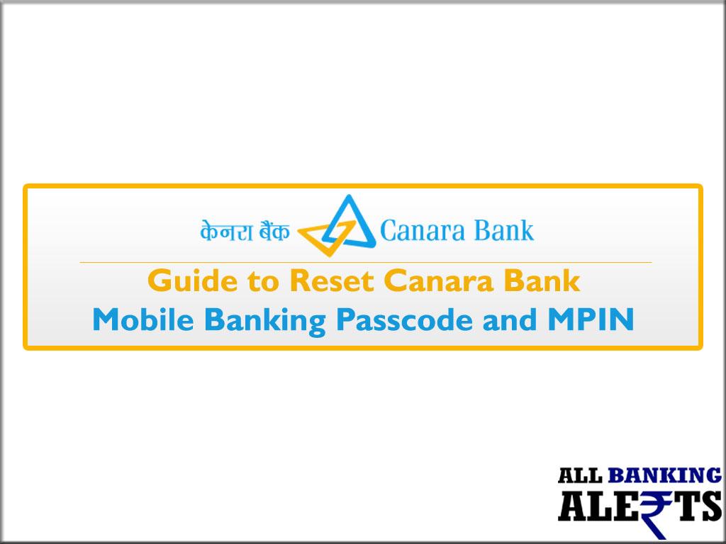 canara bank mobile banking password reset