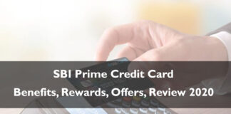 SBI Prime Credit Card Rewards Offers Benefits Review 2020