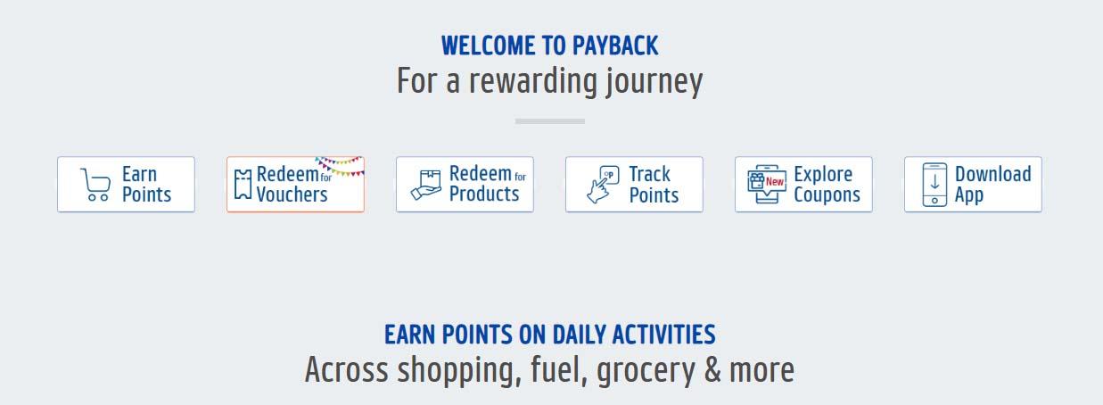 ICICI Bank Credit Card Reward programme - Earn PAYBACK points