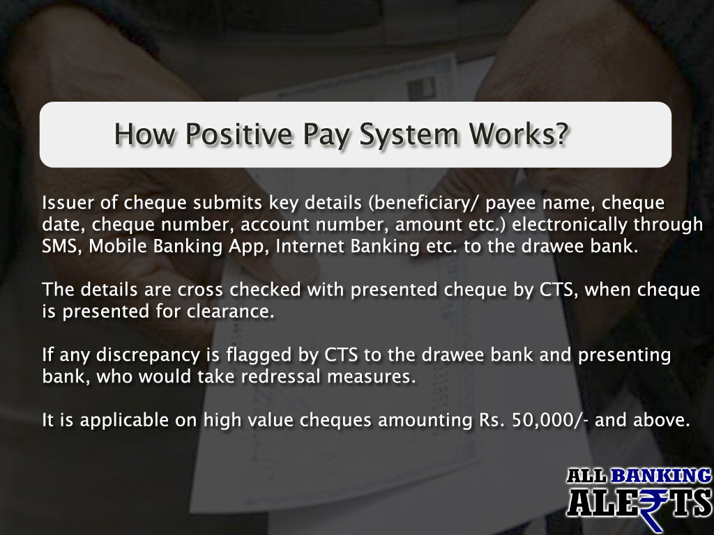 How Positive Pay System Works