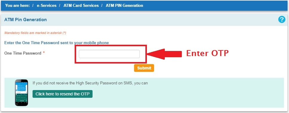 OTP - SBI Net Banking