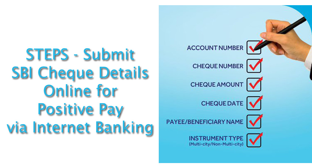 Step to Submit SBI Cheque Details via Internet Banking